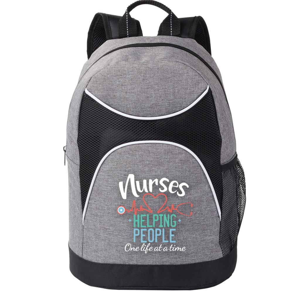 Nurses: Helping People One Life At A Time Highland Backpack