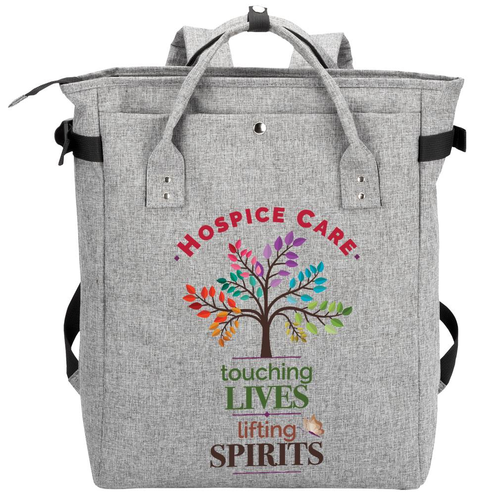 Hospice Care: Touching Lives, Lifting Spirits Freeport 2-In-1 Tote Bag/Backpack
