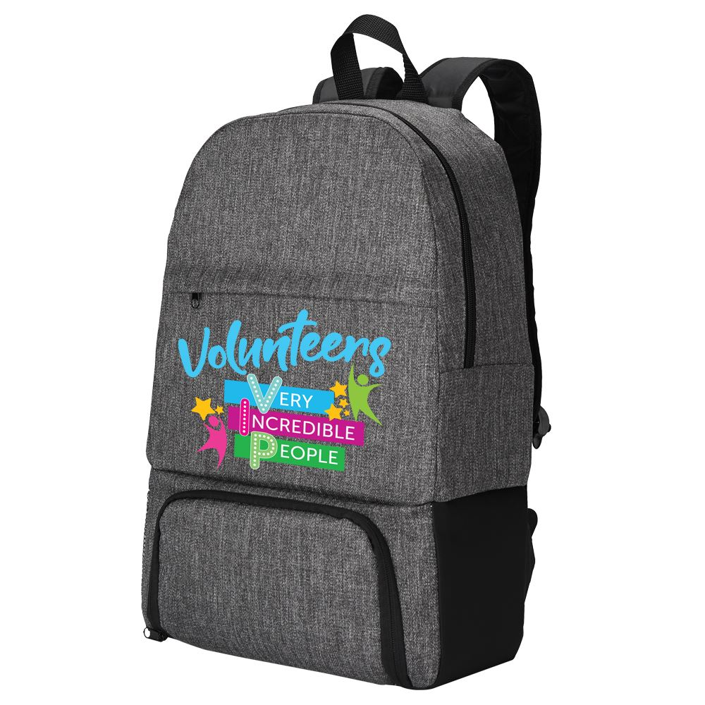 Volunteers: Very Incredible People Summit 2-In-1 Backpack Cooler