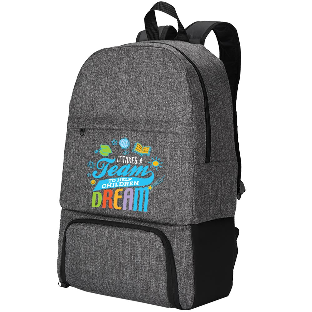 It Takes A Team To Help Children Dream Summit 2-In-1 Backpack Cooler