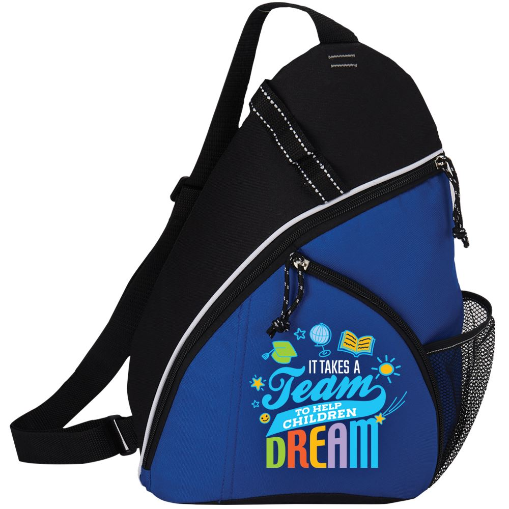 It Takes A Team To Help Children Dream Westfield Sling Backpack