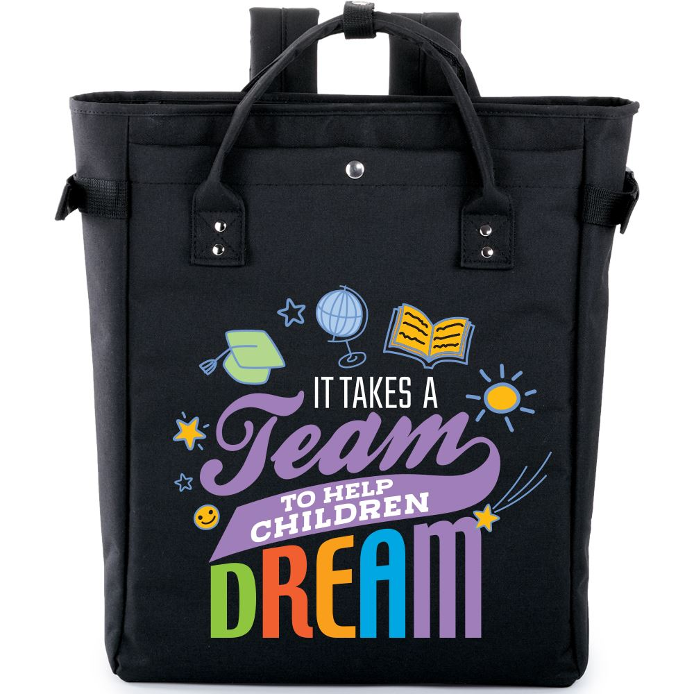 It Takes A Team To Help Children Dream Freeport 2-In-1 Bag/Backpack