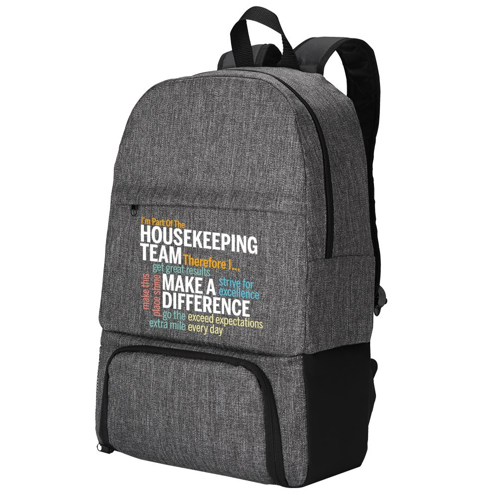 I'm Part Of The Housekeeping Team Therefore I... Summit 2-In-1 Backpack/Cooler