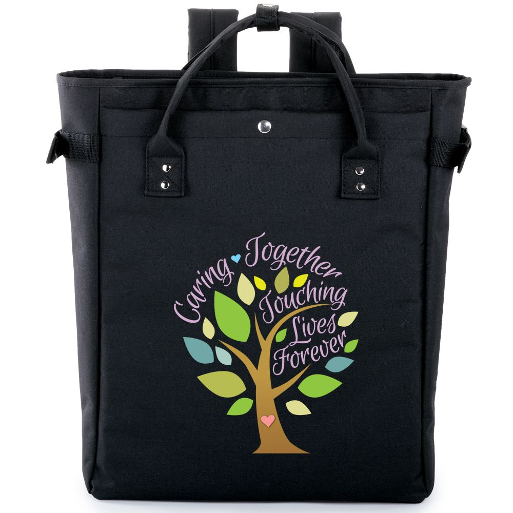 Caring Together, Touching Lives Forever Freeport 2-in-1 Tote Bag/Backpack