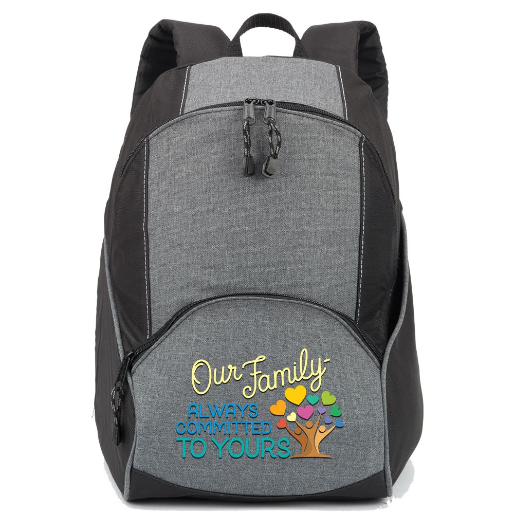 Our Family: Always Committed to Yours Aspen Backpack