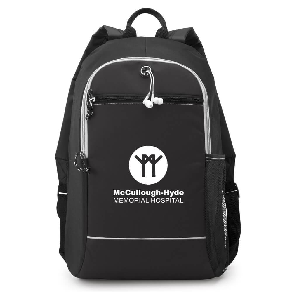 Black Bayside Backpack - Personalization Available