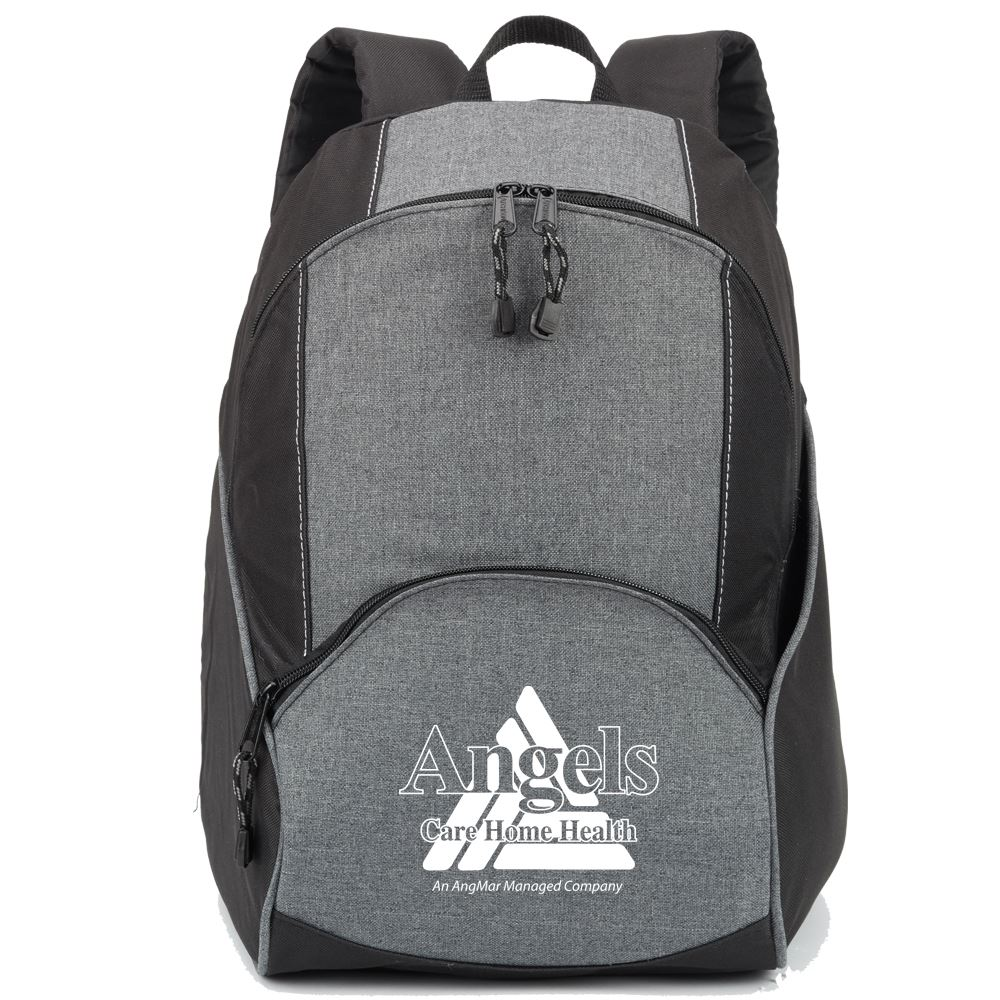 Black/Gray Aspen Backpack - Personalization Available