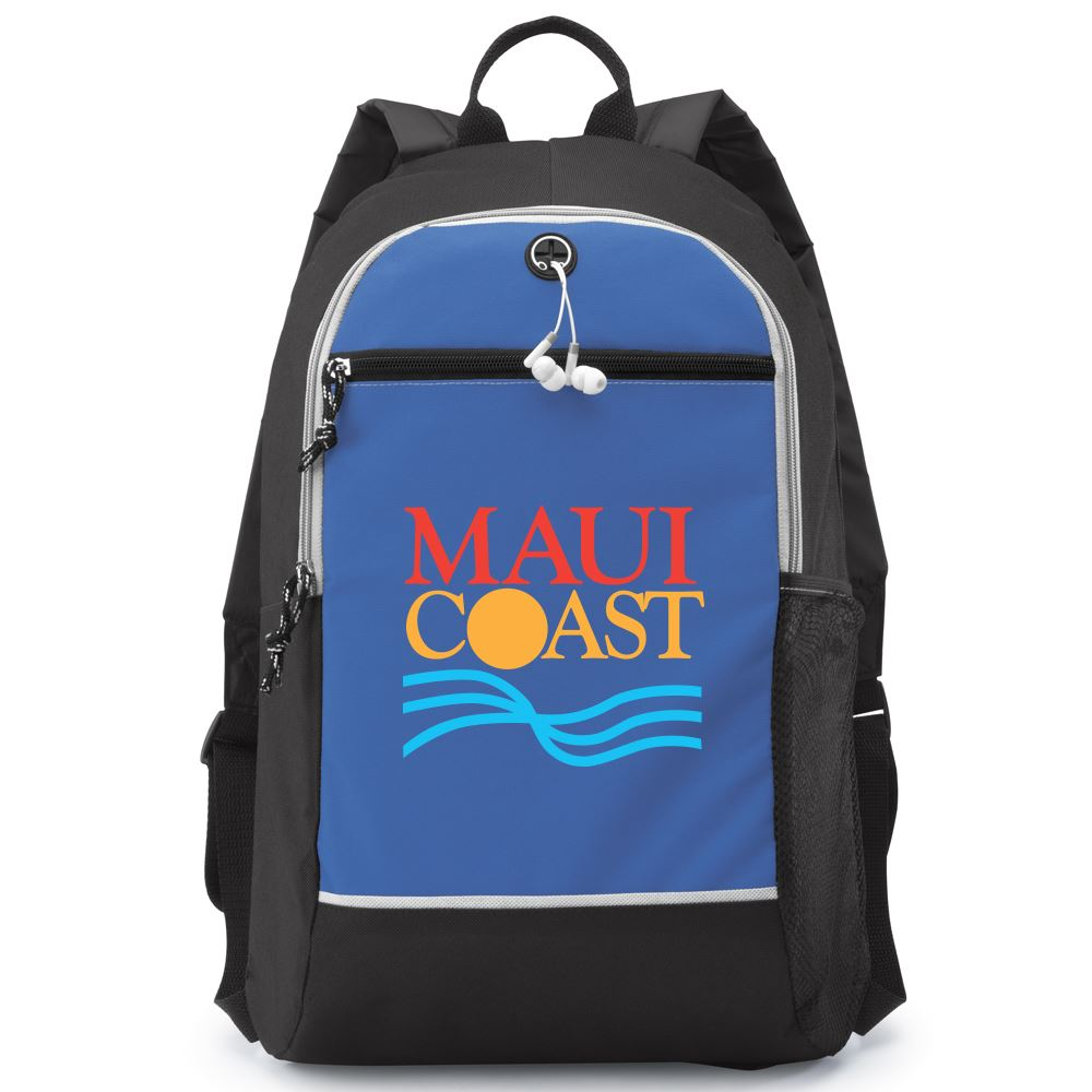 Blue Bayside Backpack - Full Color Personalization Available