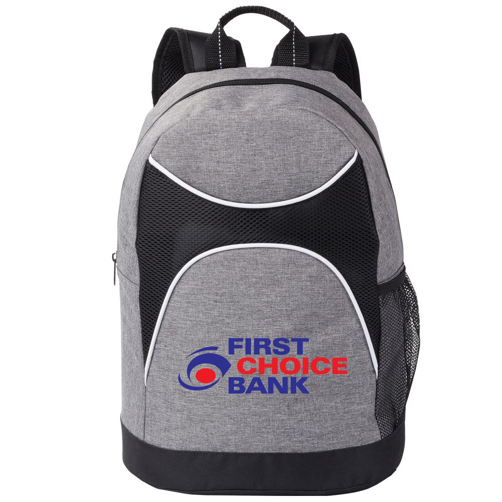 Gray/Black Highland Backpack - Full Color Personalization Available