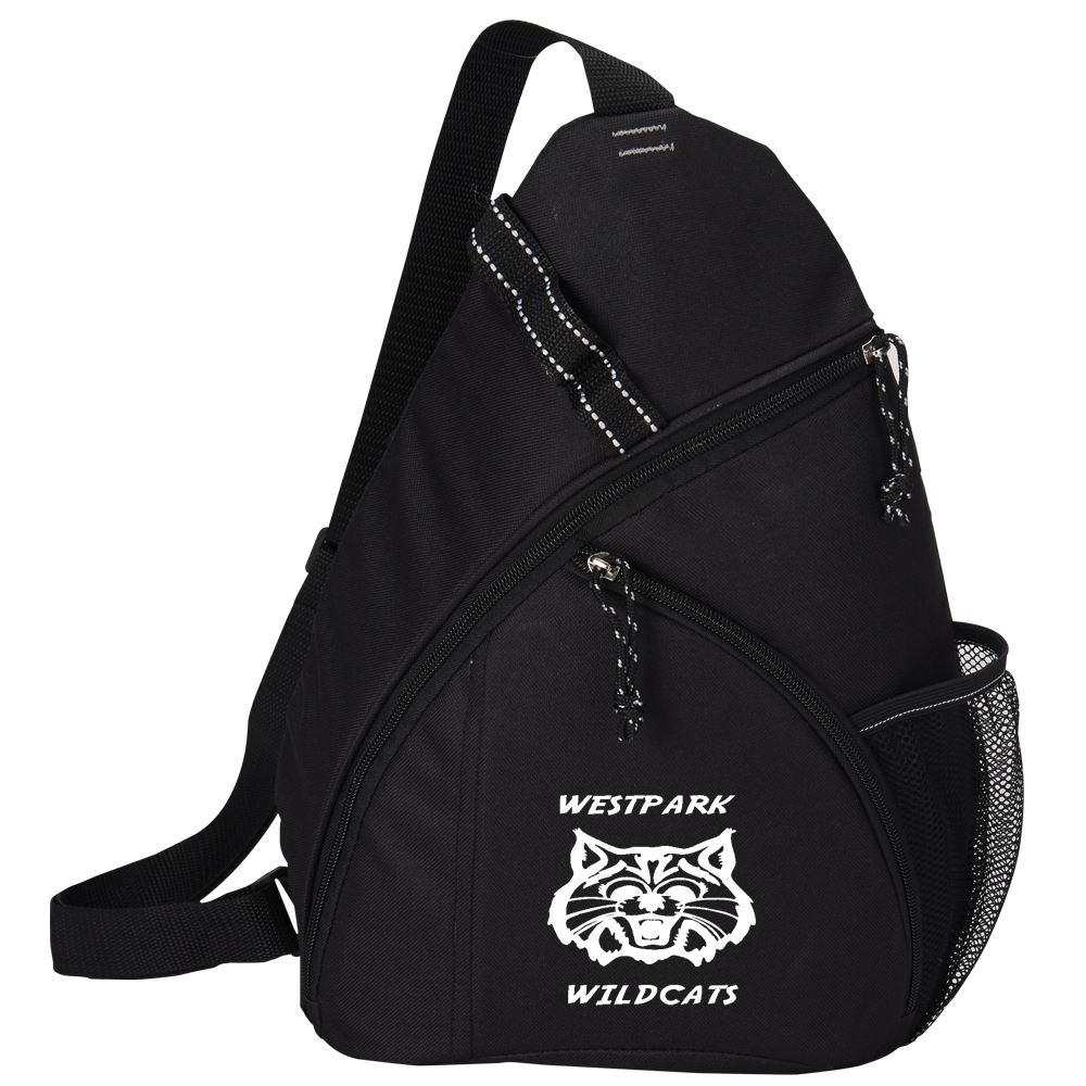 Black Westfield Sling Backpack - Full Color Personalization Available