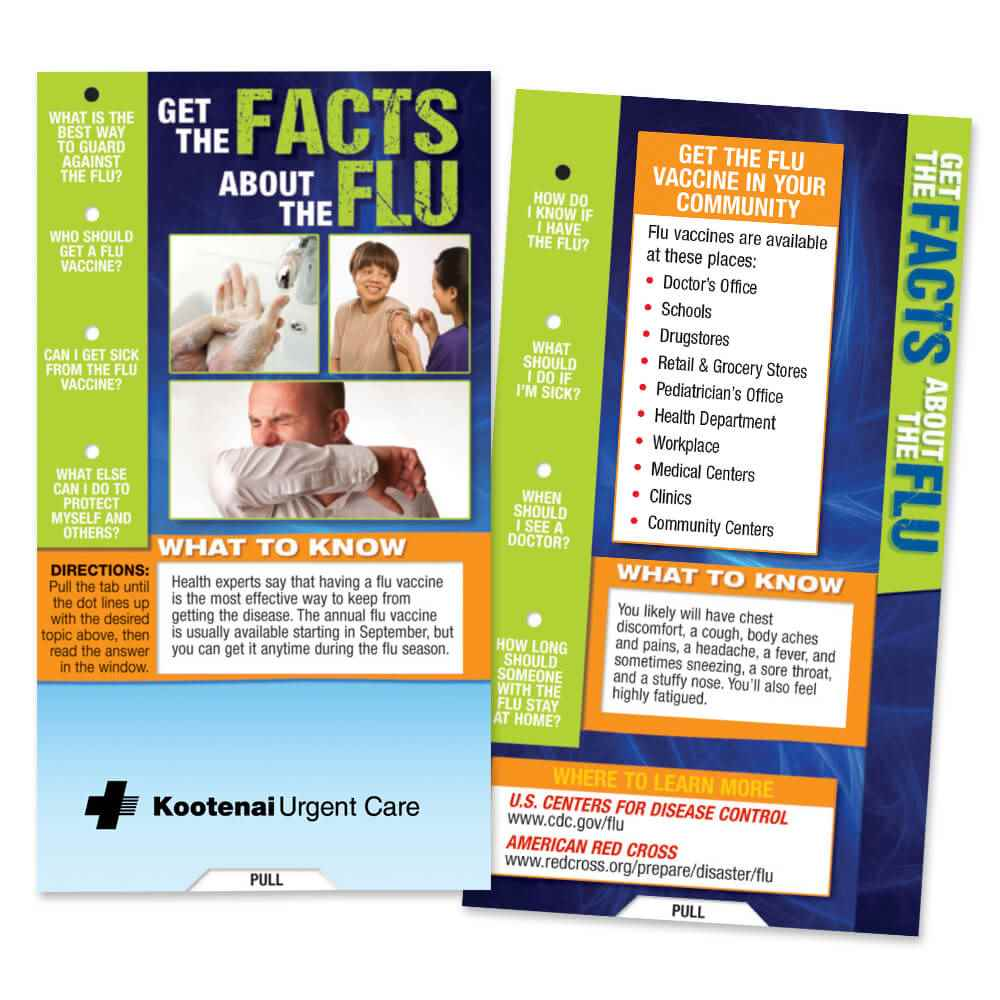 Get The Facts About The Flu Slideguide - Personalization Available
