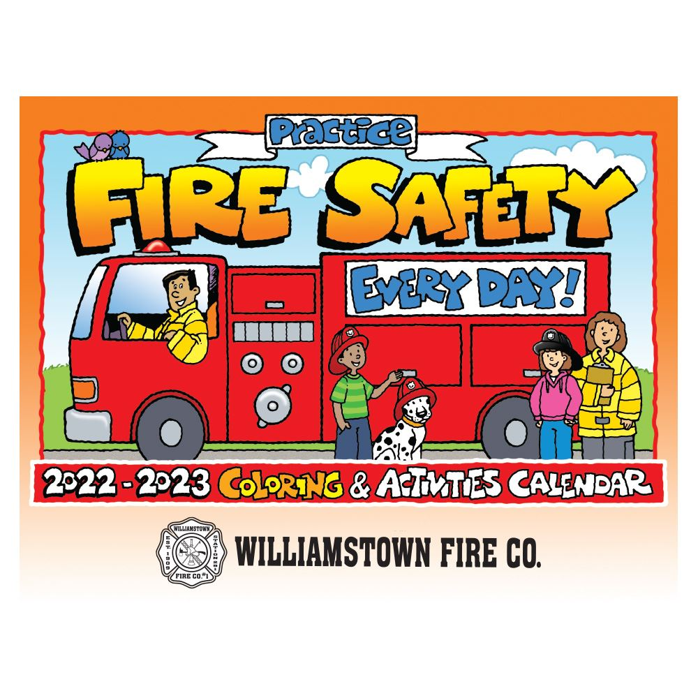 Practice Fire Safety Coloring & Activities 2021-2022 Calendar - Personalization Available