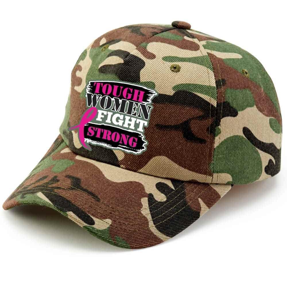 Tough Women Fight Strong Camouflage Baseball Cap