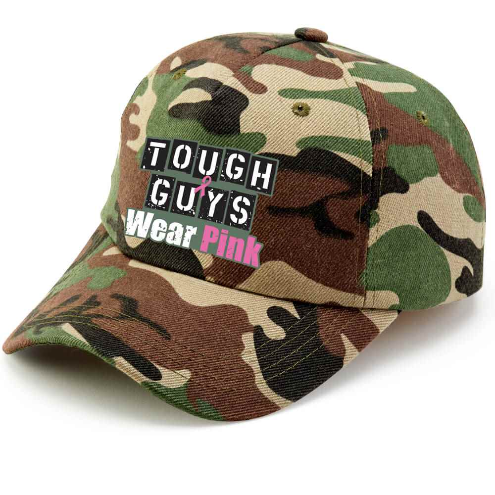 Tough Guys Wear Pink Camouflage Baseball Cap