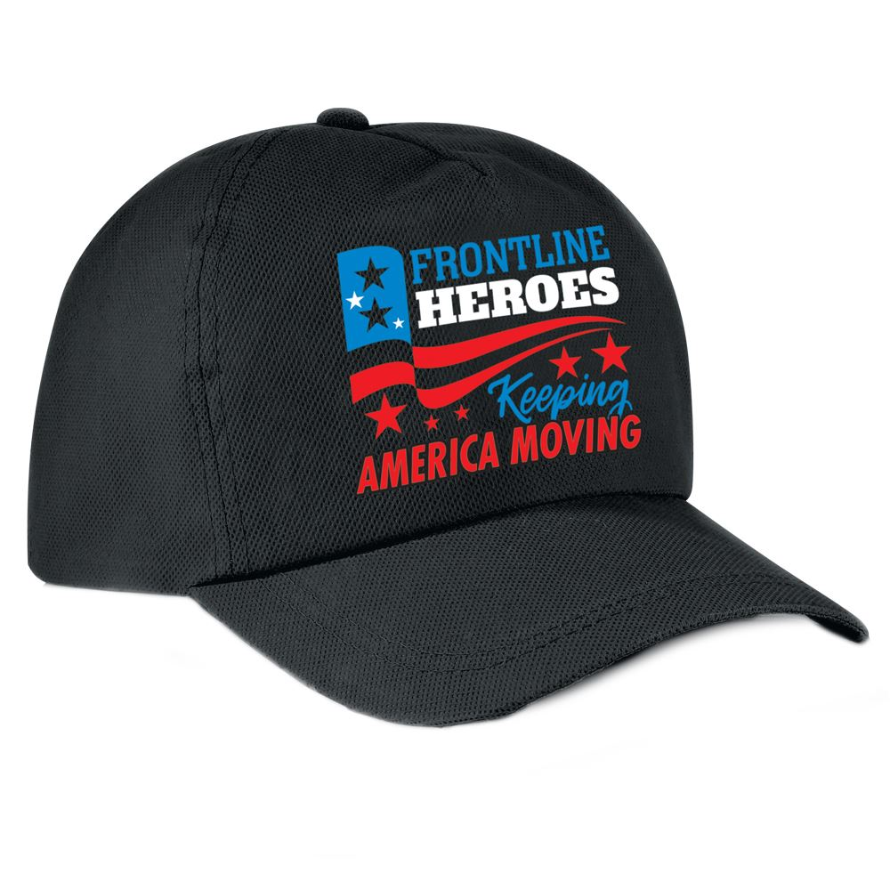 Frontline Heroes Keeping America Moving Baseball-Style Cap