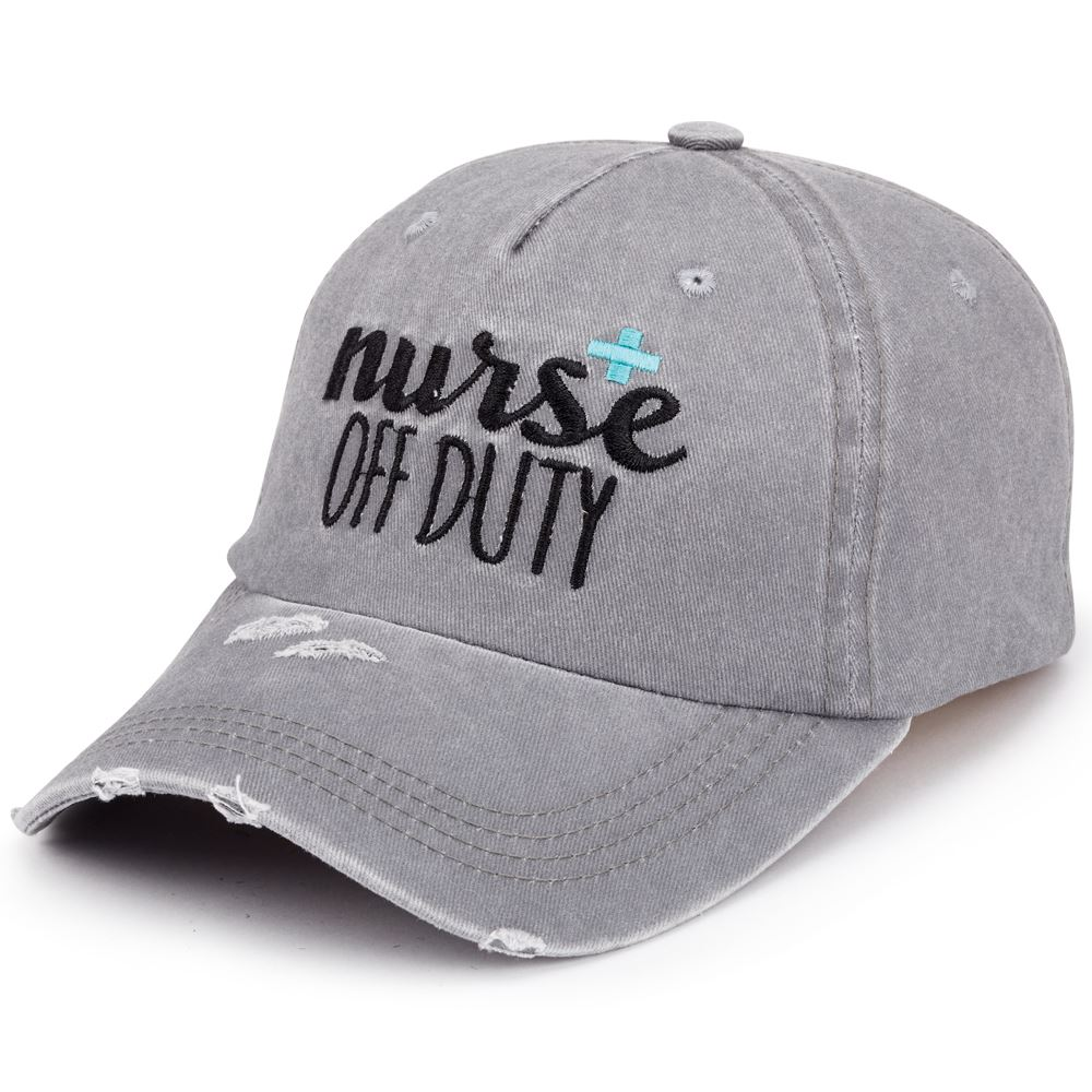 Nurse Off Duty Distressed Baseball Cap