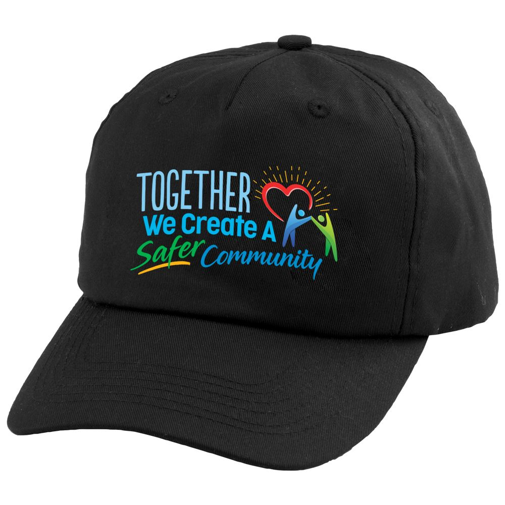 Together We Create A Safer Community Baseball-Style Cap