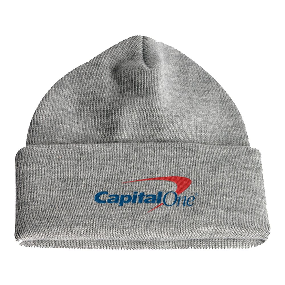 Long Soft Knit Embroidered Beanie (Grey) - Personalization Available
