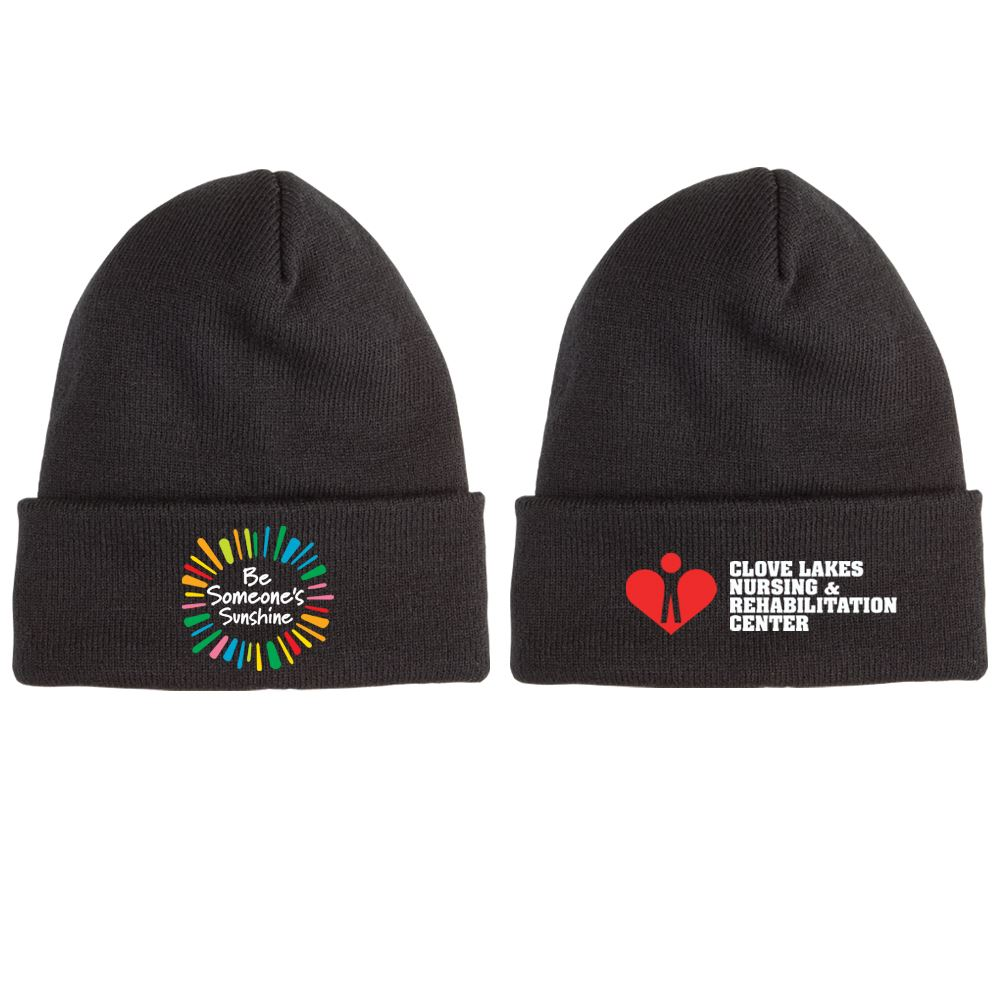 Be Someone's Sunshine Soft Knit Embroidered Beanie Plus Personalization