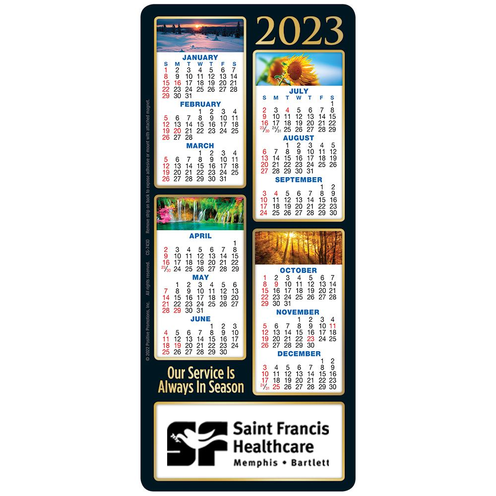 Our Service Is Always In Season 2020 E-Z 2 Stick Calendar - Personalization Available