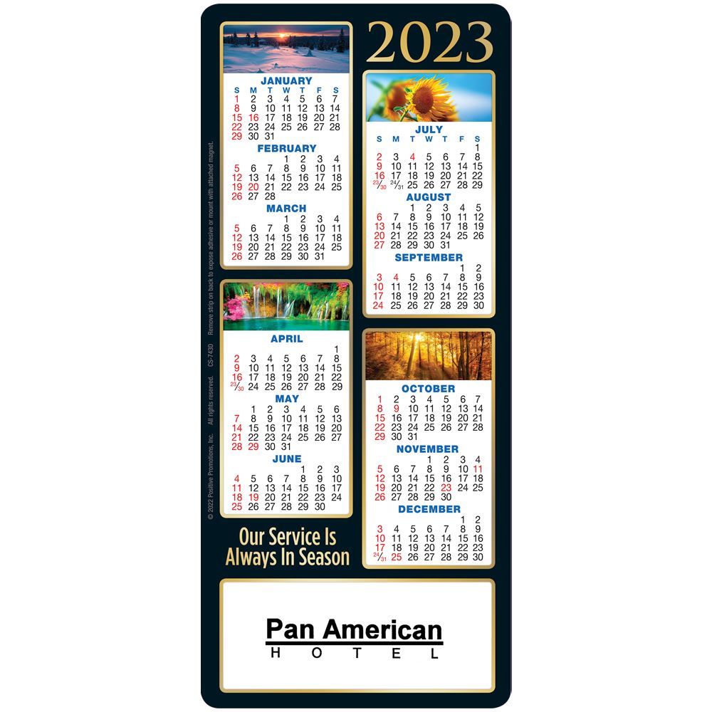Our Service Is Always In Season 2022 E-Z 2 Stick Calendar - Personalization Available