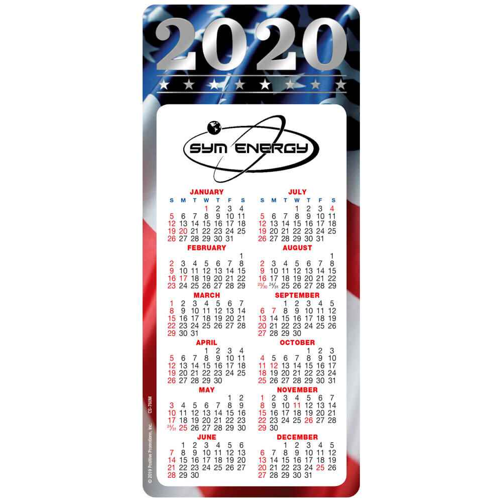 Americana 2020 Deluxe Magnet Calendar - Personalization Available