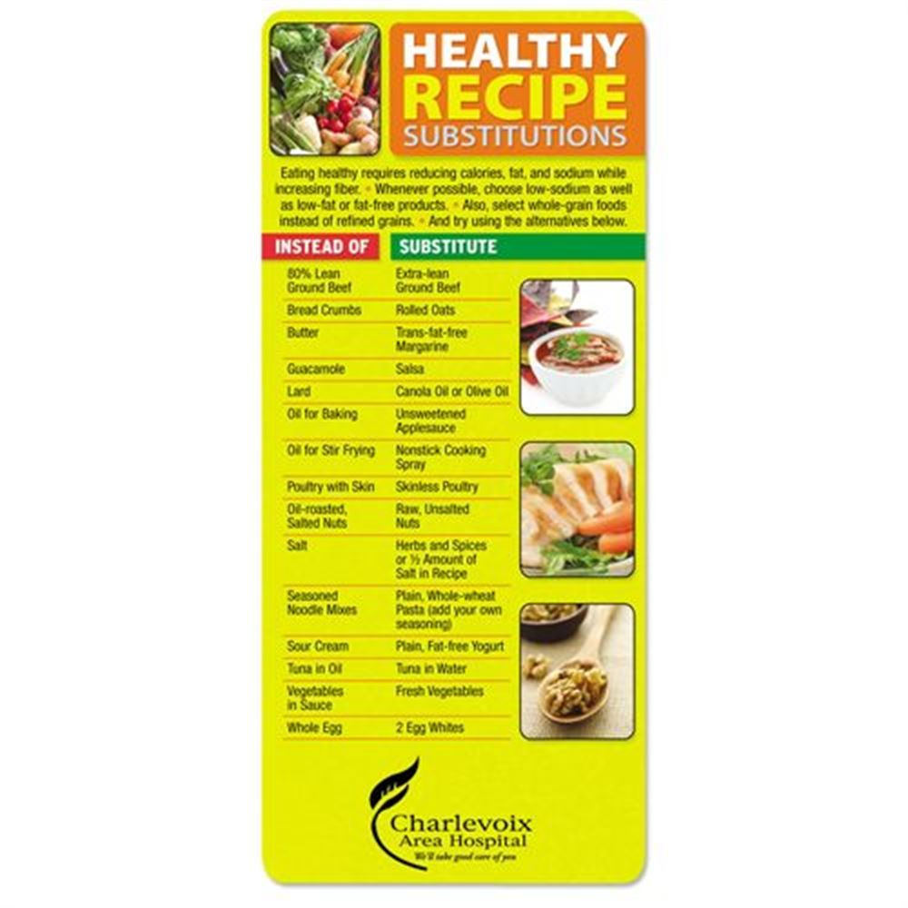 Healthy Recipe Substitutions Magnetic Glancer - Personalization Available