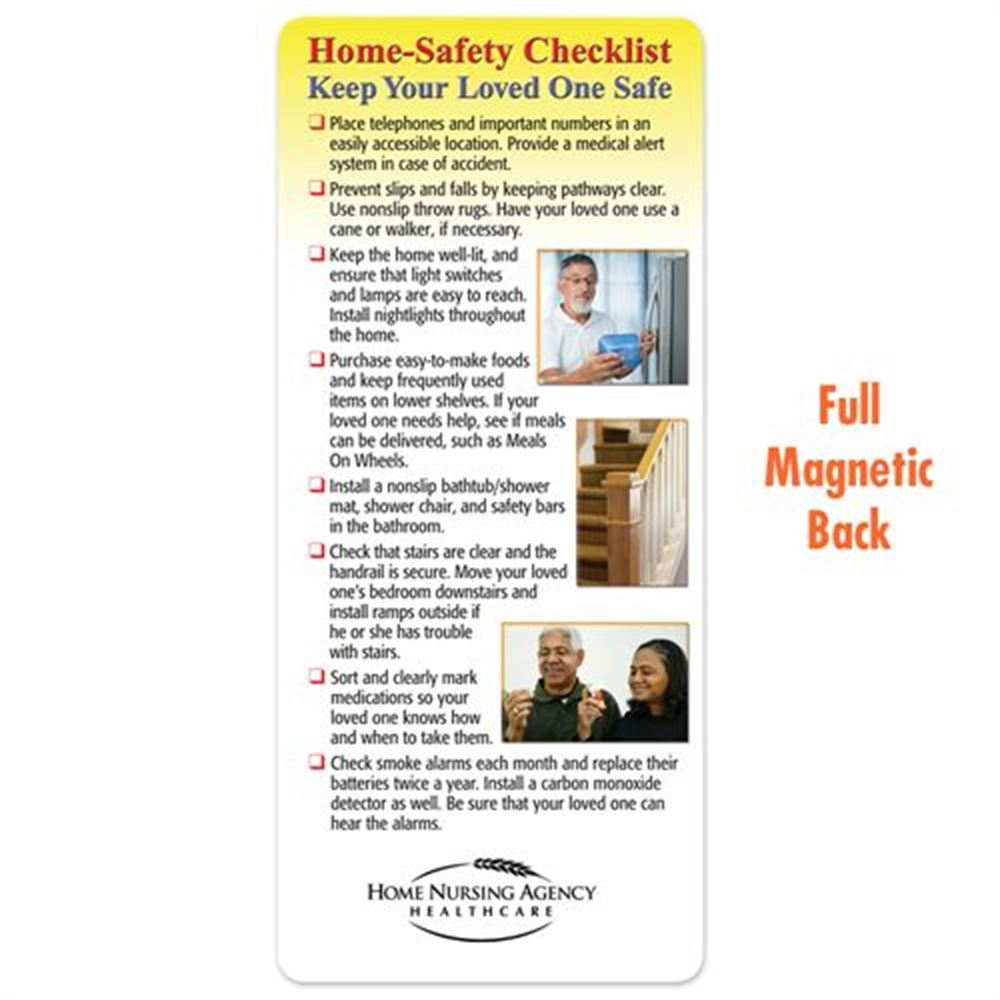 Home-Safety Checklist: Keep Your Loved One Safe Magnetic Glancer - Personalization Available