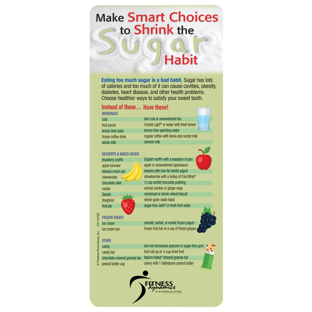 Make Smart Choices To Shrink The Sugar Habit E-Z 2 Stick Glancer - Personalization Available