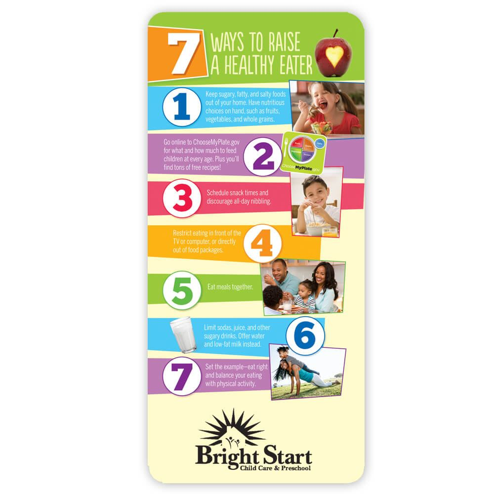 7 Ways To Raise A Healthy Eater E-Z Stick Glancer - Personalization Available