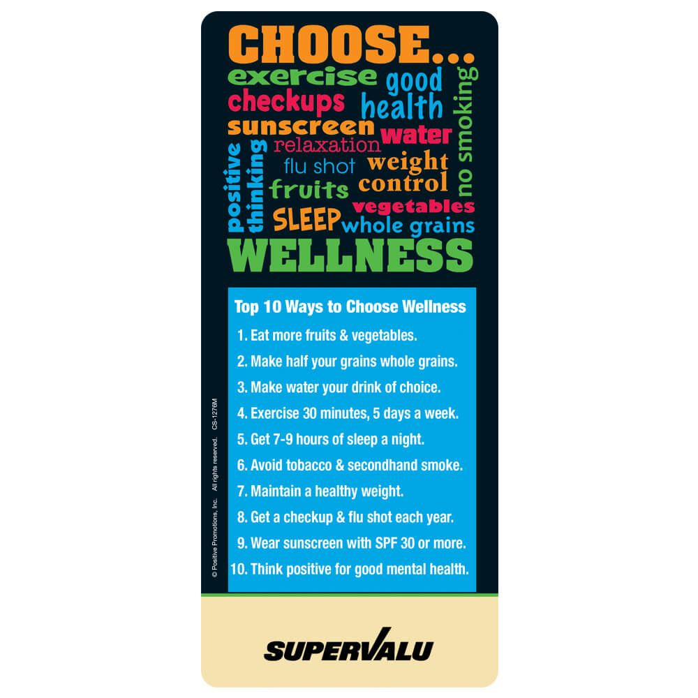 Choose Wellness Magnetic Glancer - Personalization Available
