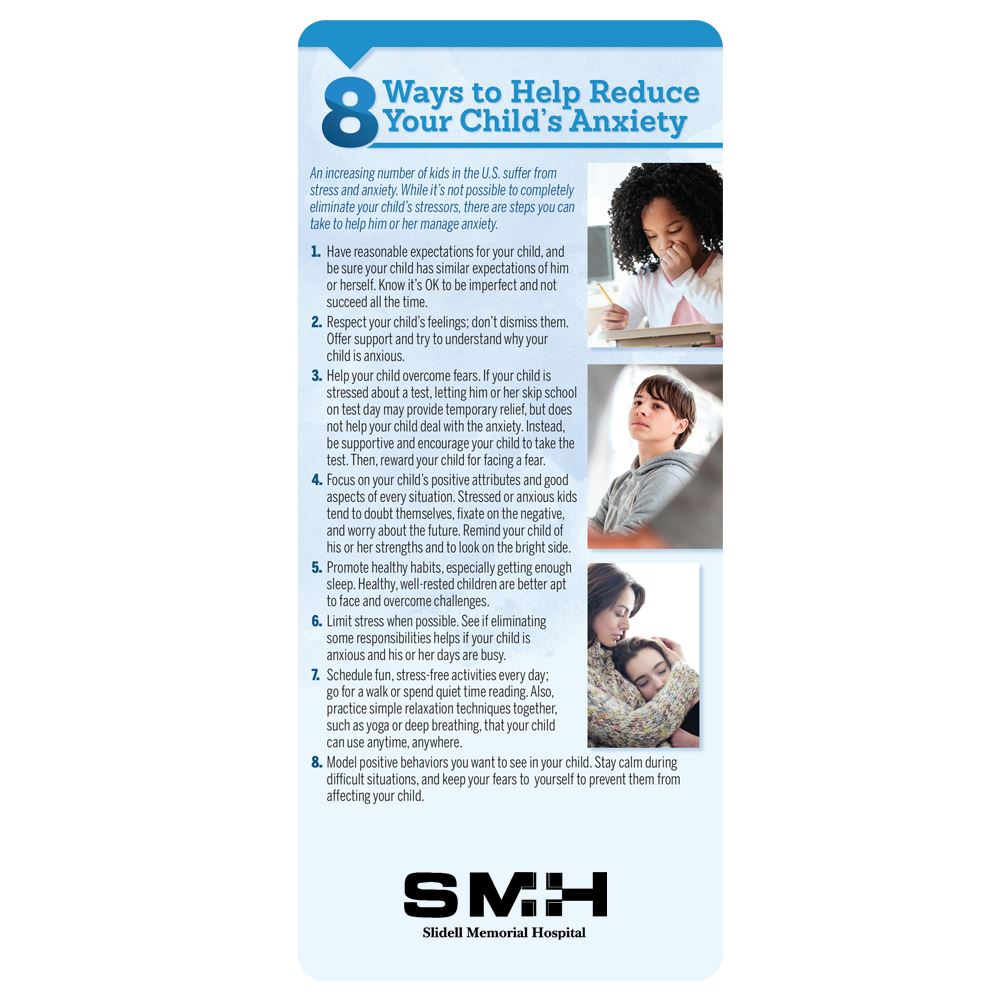 8 Ways To Help Reduce Your Child's Anxiety  E-Z 2 Stick Glancer - Personalization Available