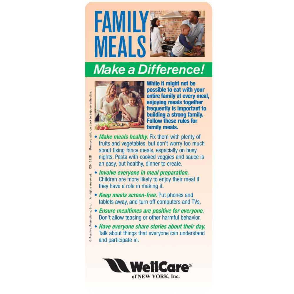 Family Meals Make A Difference! EZ-2 Stick Glancer - Personalization Available