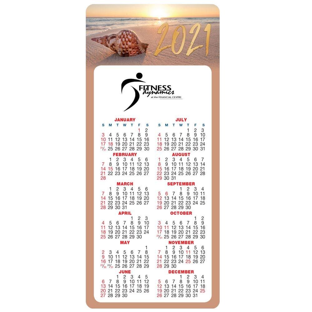 Seashell 2021 E-Z 2 Stick Calendar - Personalization Available