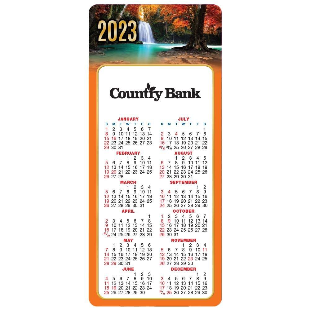 Seasonal Waterfall 2021 E-Z Stick Calendars - Personalization Available