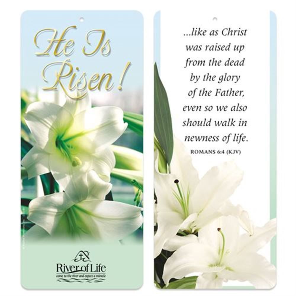 He Is Risen! 2-In-1 Bible Marker/Glancer - Personalization Available