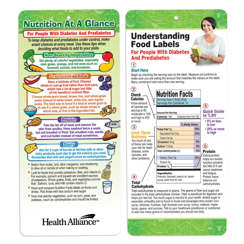 Nutrition At A Glance For People With Diabetes And Prediabetes Two-Sided Glancer - Personalization Available