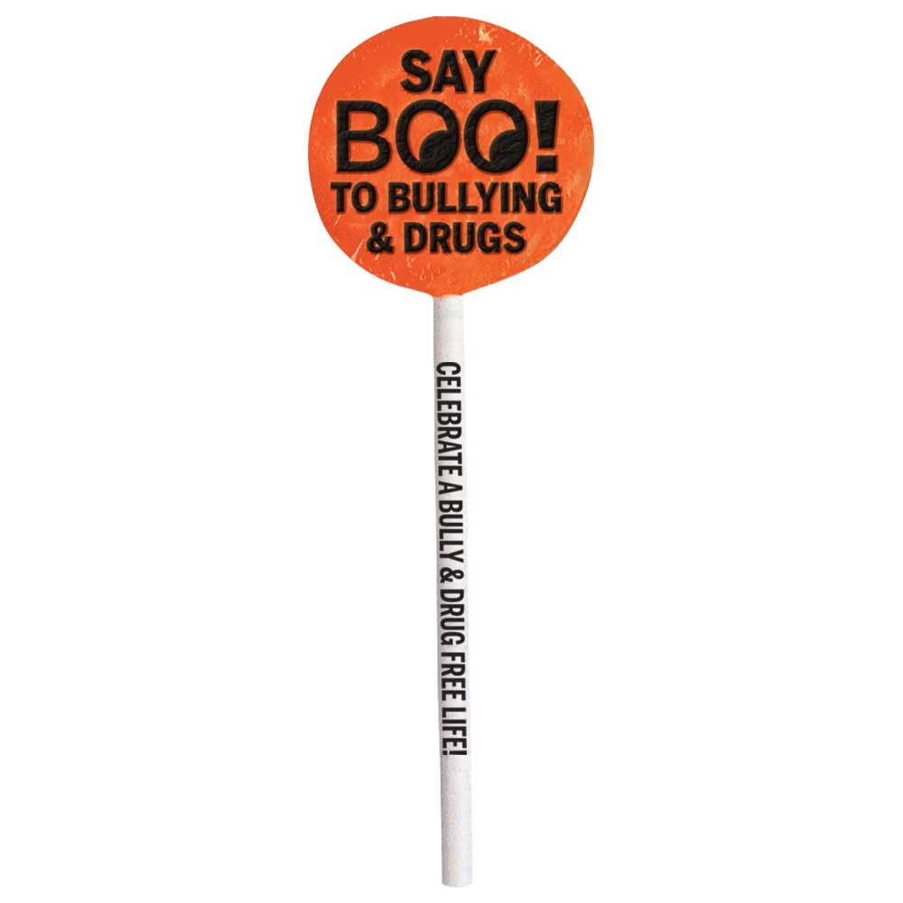Say Boo! To Bullying & Drugs Lollipop Pack - 200 Per Pack
