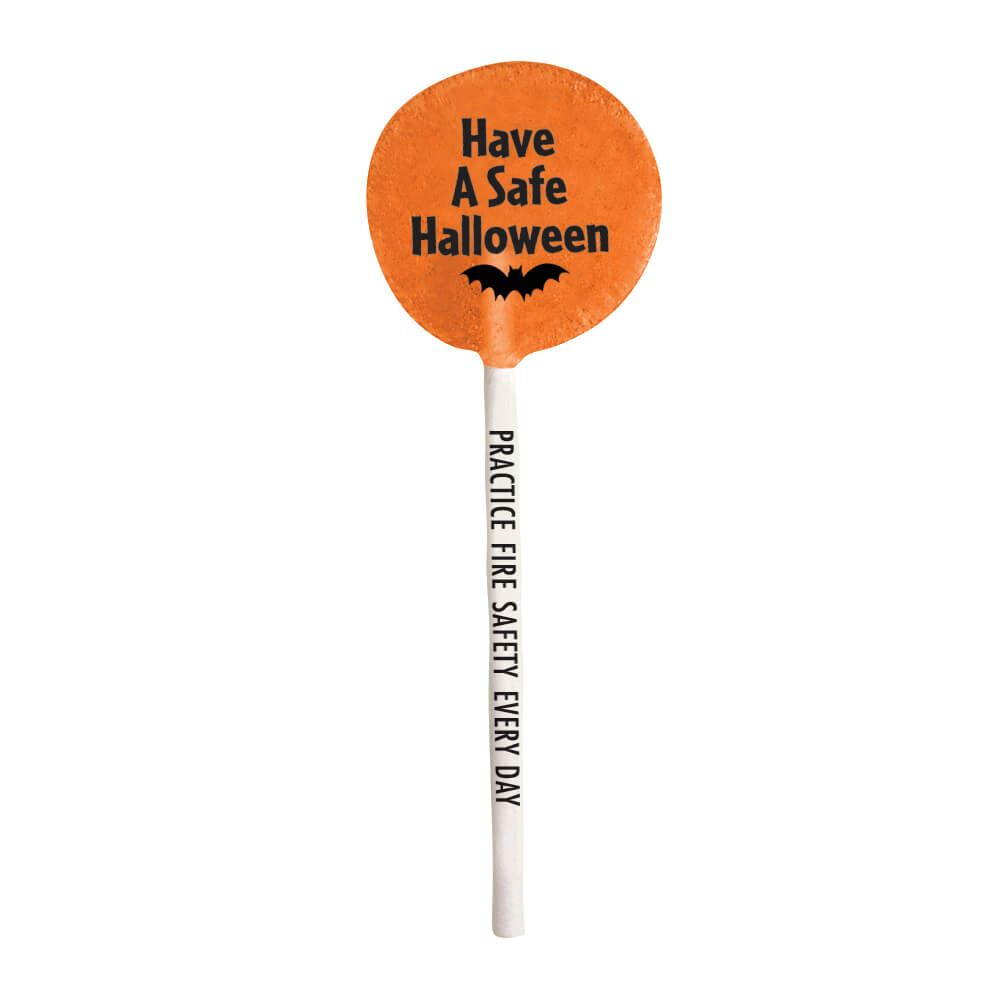 Have A Safe Halloween Lollipop (Orange)