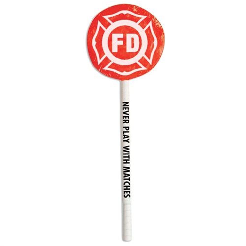 FD Maltese Cross Shield Lollipop - 100 Per Pack