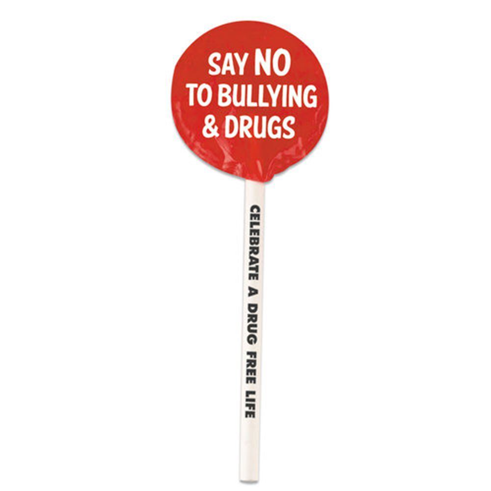 Say No To Bullying & Drugs Red Ribbon Week Lollipops