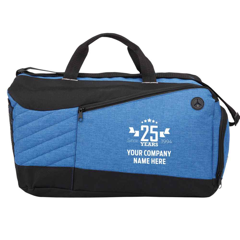 25th Anniversary Blue Stafford Duffel Bag - Personalization Available