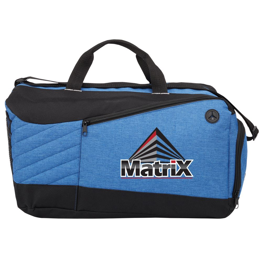 Blue Stafford Duffel Bag - Full Color Personalization Available