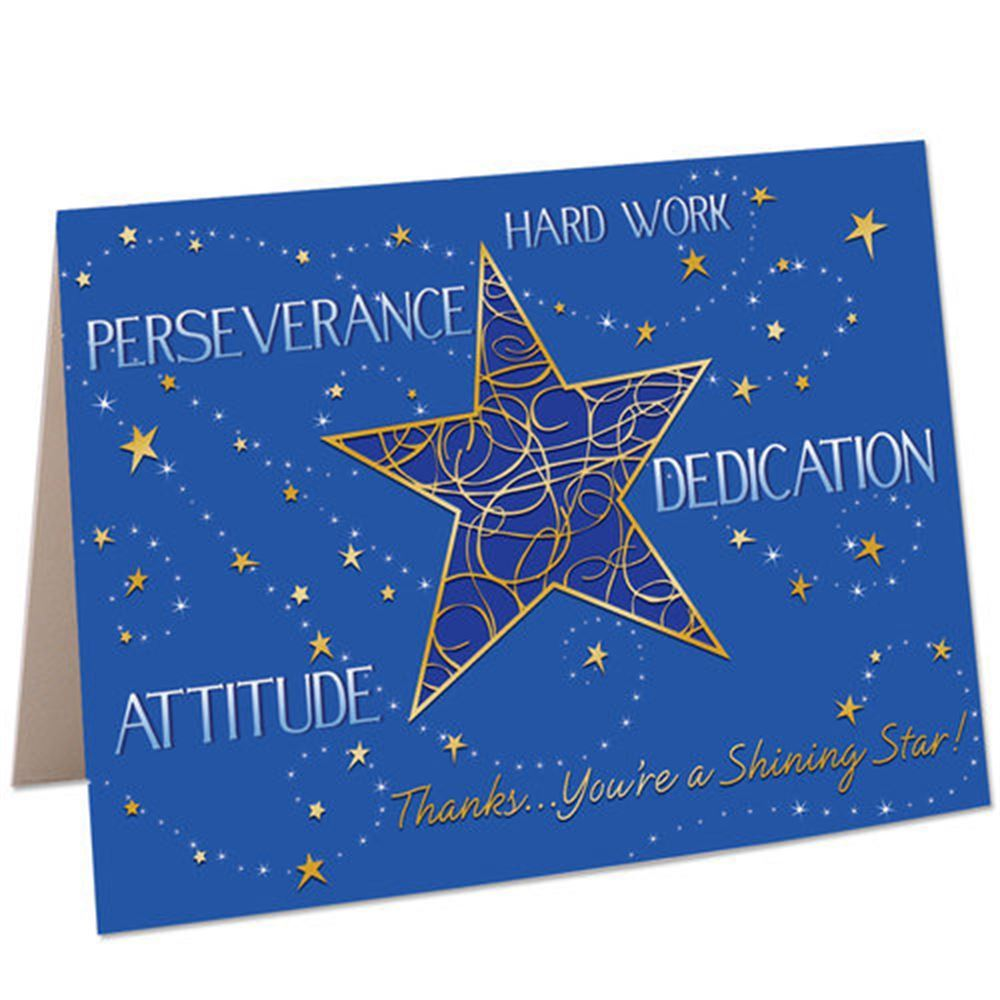 Thank You Quotes For Hard Work And Dedication: Thanks...You're A Shining Star Greeting Card
