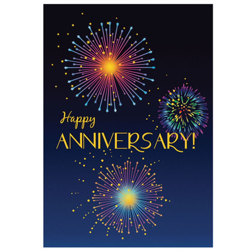 Happy Anniversary Fireworks Design Greeting Card Positive Promotions