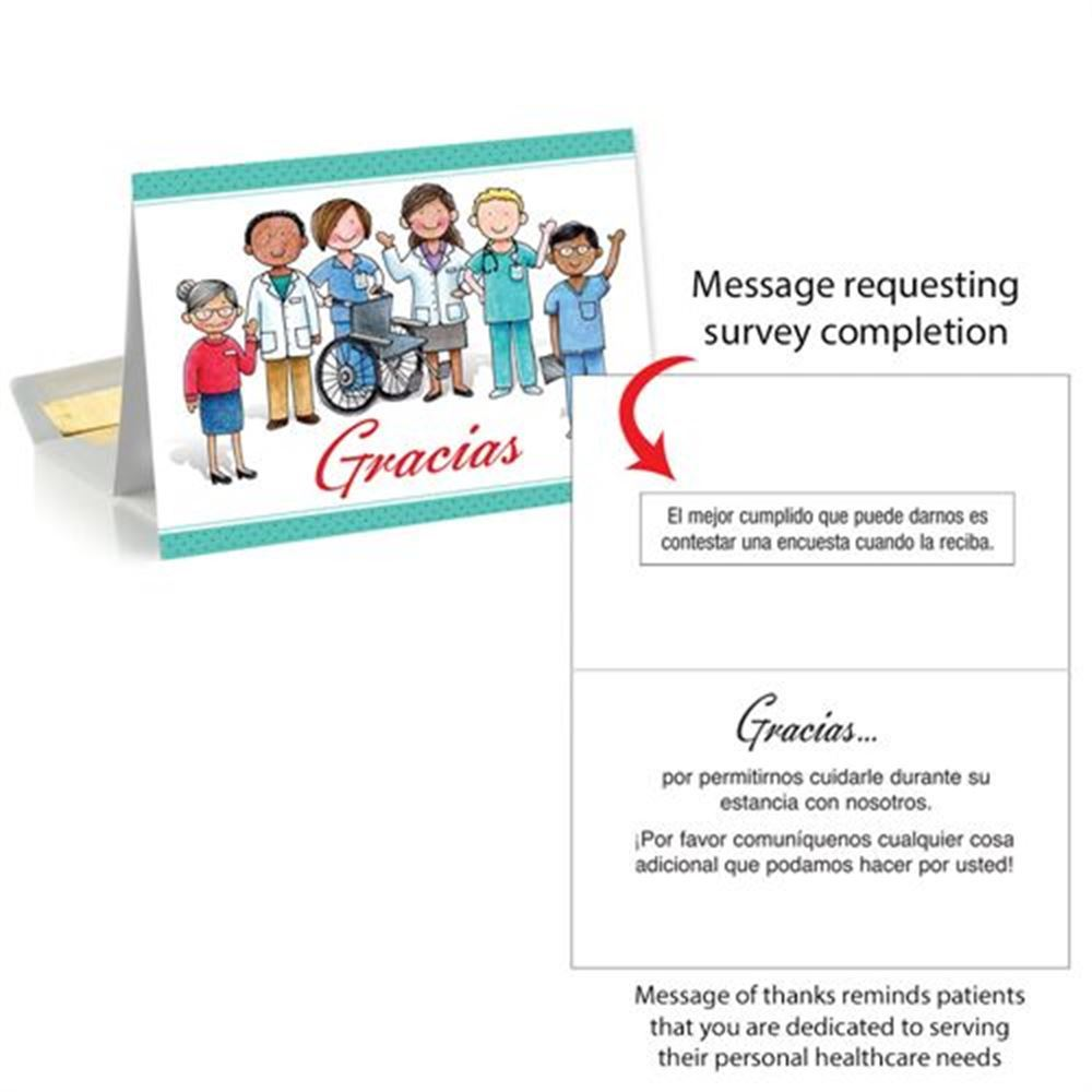 Thank You, Patient Follow-Up Greeting Card (Spanish)
