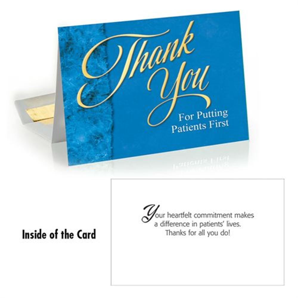 Thank You For Putting Patients First Greeting Card | Positive Promotions