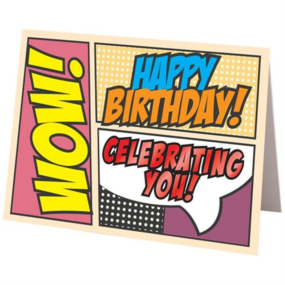 Free Comic Book Day Postcard: Happy Birthday Comic Design Greeting Card
