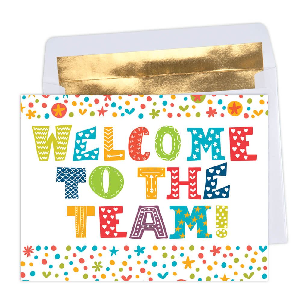 welcome to the team greeting card positive promotions