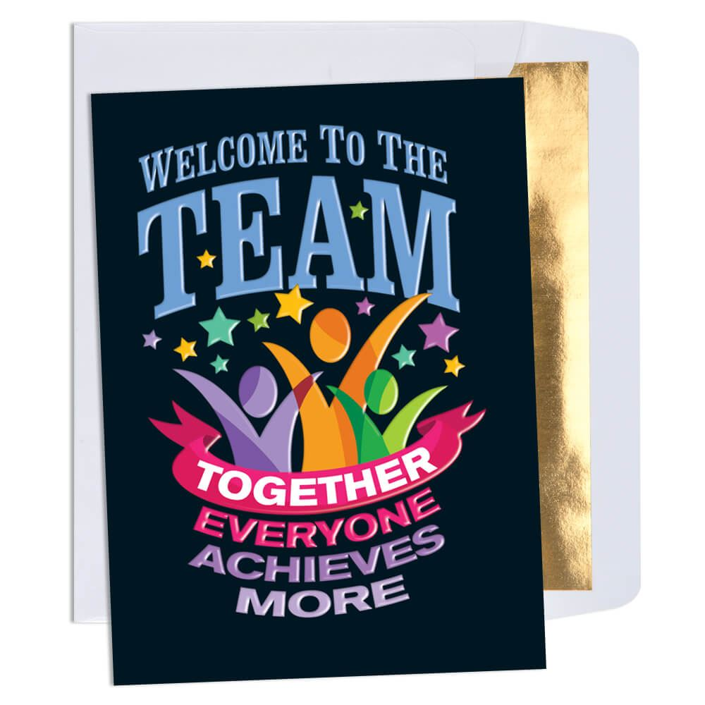 Welcome to the team together everyone achieves more greeting card welcome to the team together everyone achieves more greeting card m4hsunfo